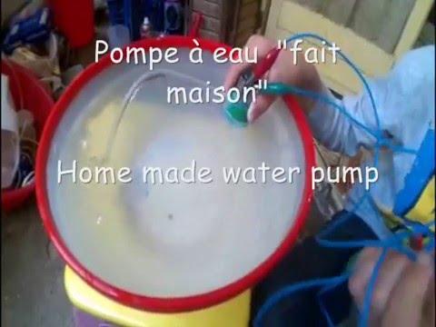 comment faire une pompe a eau simple tuto