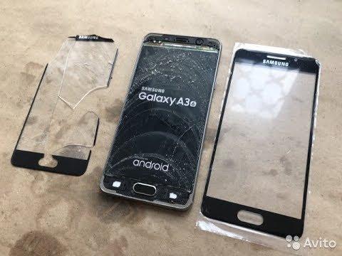 Ремонт замена стекла дисплея Samsung A3 A310f 2016г. Glass Replacement