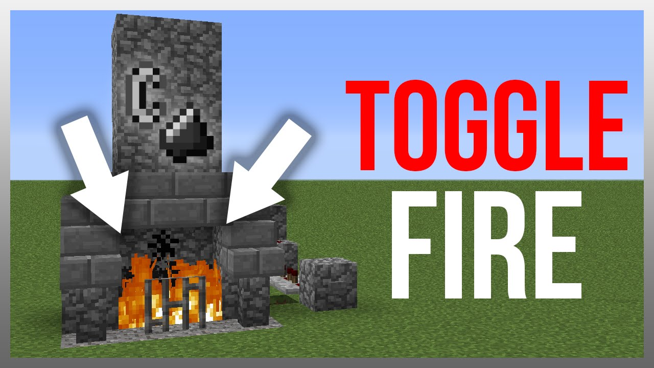 Minecraft 1.12: Redstone Tutorial - Togglable Fireplace! - YouTube
