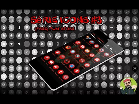Série icons (pack icons) Free Play Store - 22 icons aleatorios - 7 icons red #1