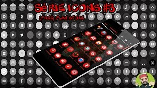 Série icons (pack icons) free play store - 22 icons aleatorios - 7 icons red