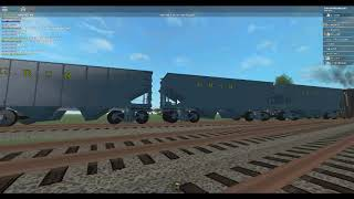 ROBLOX Grand River Scenic Railroad Coal Train Departing out of the Yard