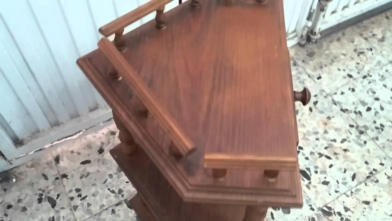 Mueble rinconera antiguo de madera youtube - Mueble rinconera ...