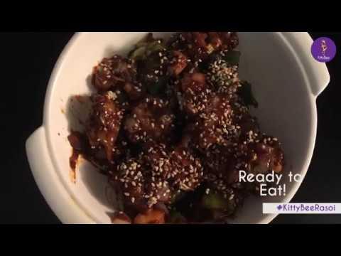 Quick Recipe | Honey Chilli Cauliflower | Mrs. Walia Cookery Classes | KittyBee Rasoi