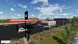 3d Rendered Flythrough Of A Service Station And Head Office Complex
