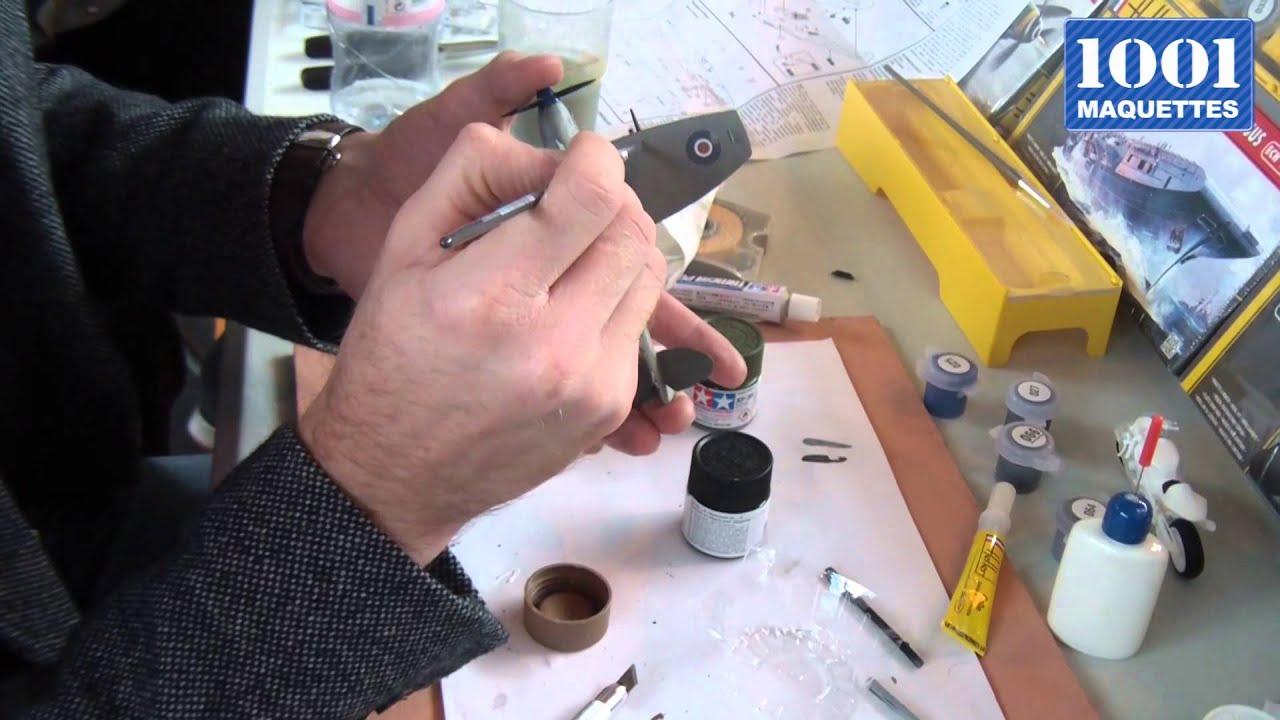 Tutoriel 1001 Maquettes n°10 : technique de peinture - La brosse et le lavis - YouTube