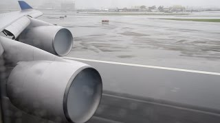 United 747 Overcast Takeoff/Landing - BusinessFirst (SFO-ORD)