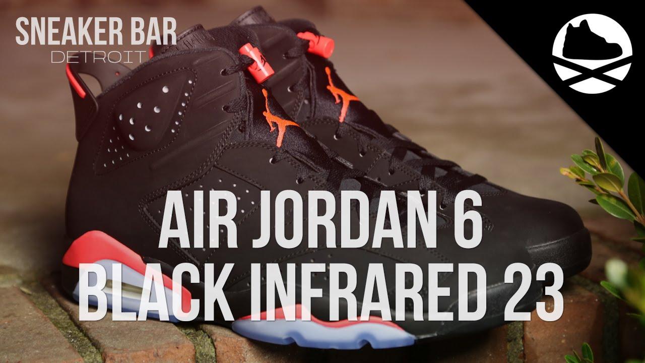 64d5b4476cedb6 Air Jordan 6 Retro Black Infrared 23 - Review - YouTube