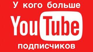 У кого больше подписчиков на YouTube - Обзор