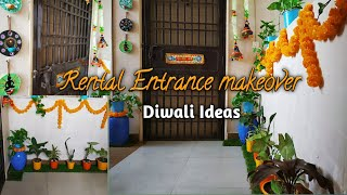 Diwali Pe Apne Entry Way Ko ek  Naya Look De ||Small Rental  Passage  way  Makeover Ideas
