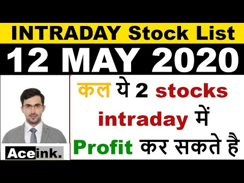 Best intraday trading stocks for 12 MAY 2020 | Intraday trading strategies|Intraday trading tips|