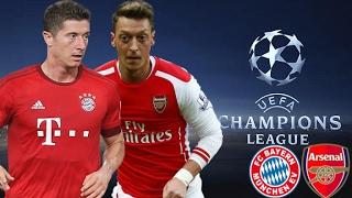 MATCH BAYERN MUNICH VS ARSENAL UEFA CHAMPIONS LEAGUE 16/17