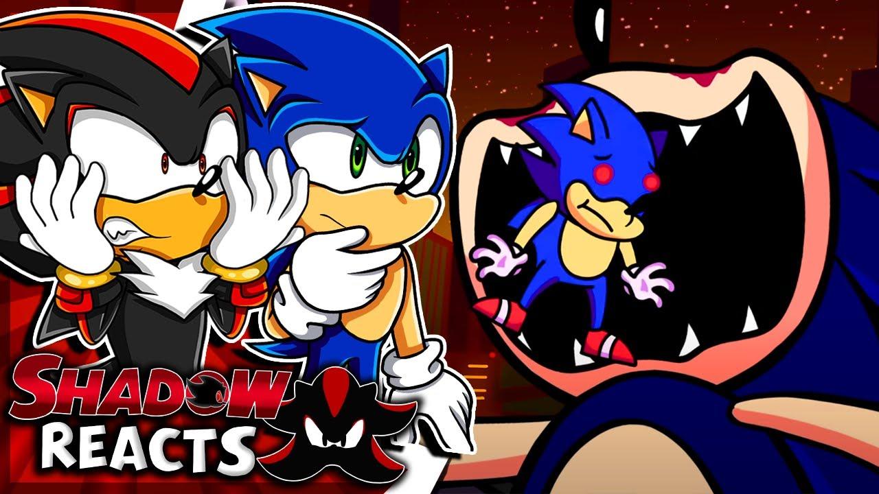 Sonic & Shadow Reacts To SONIC.EXE vs. SUNKY?! Friday Night Funkin' Logic | Cartoon Animation!