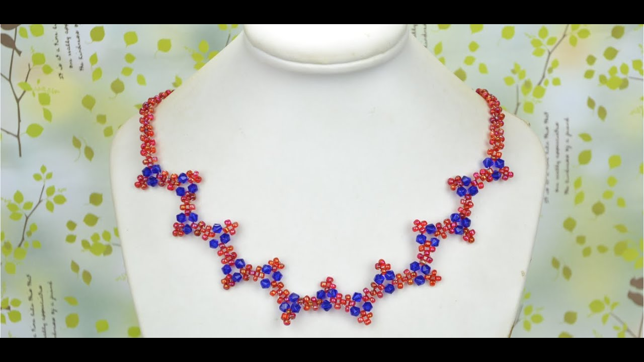 How to Make Elegant Wavy Necklaces with Seed Beads at Home - YouTube