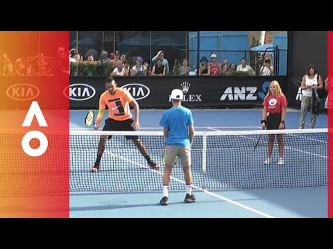 Have a hit with Kyrgios | Australian Open 2018