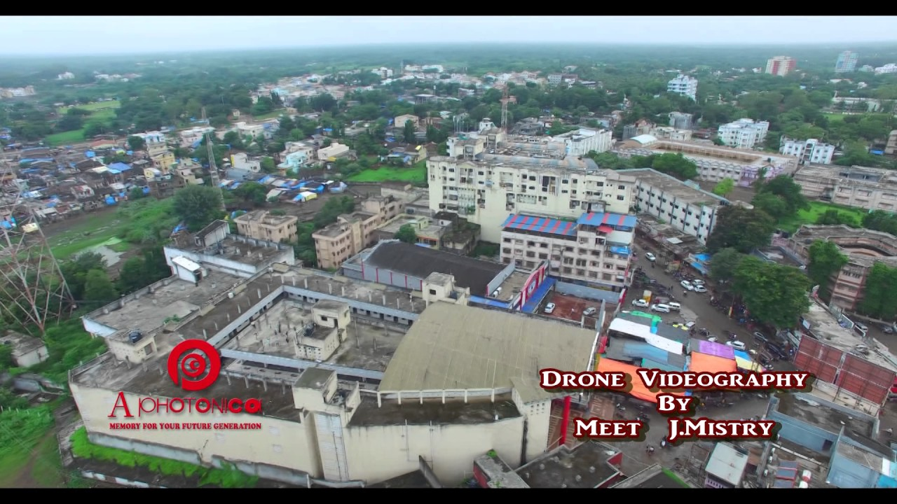 old bus stand drone camera full of view of vyara