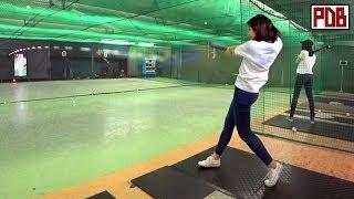 실력 쩌는 일본 여대생 야구동영상 +예쁨