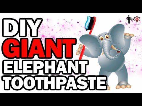 DIY GIANT Elephant Toothpaste - Man Vs Science