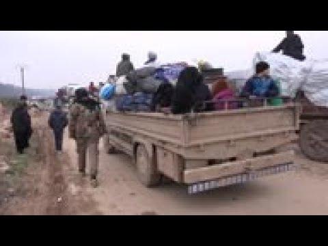 Civilians escape government