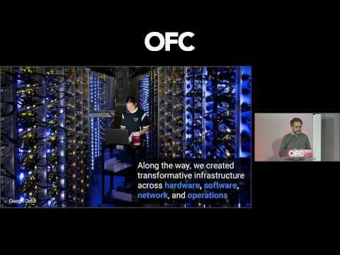 Urs Hoelzle Google, speaks at OFC Plenary 2017