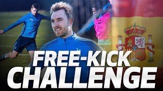 🎯 FREE-KICK TRAINING! | Ft. Christian Eriksen, Eric Dier , Serge Aurier, and Paulo Gazzaniga!