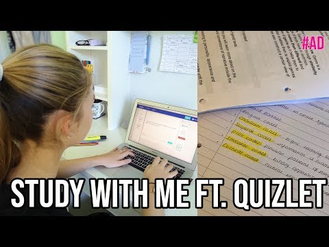 STUDY WITH ME A LEVELS EDITION FT. QUIZLET #ad|Sophia
