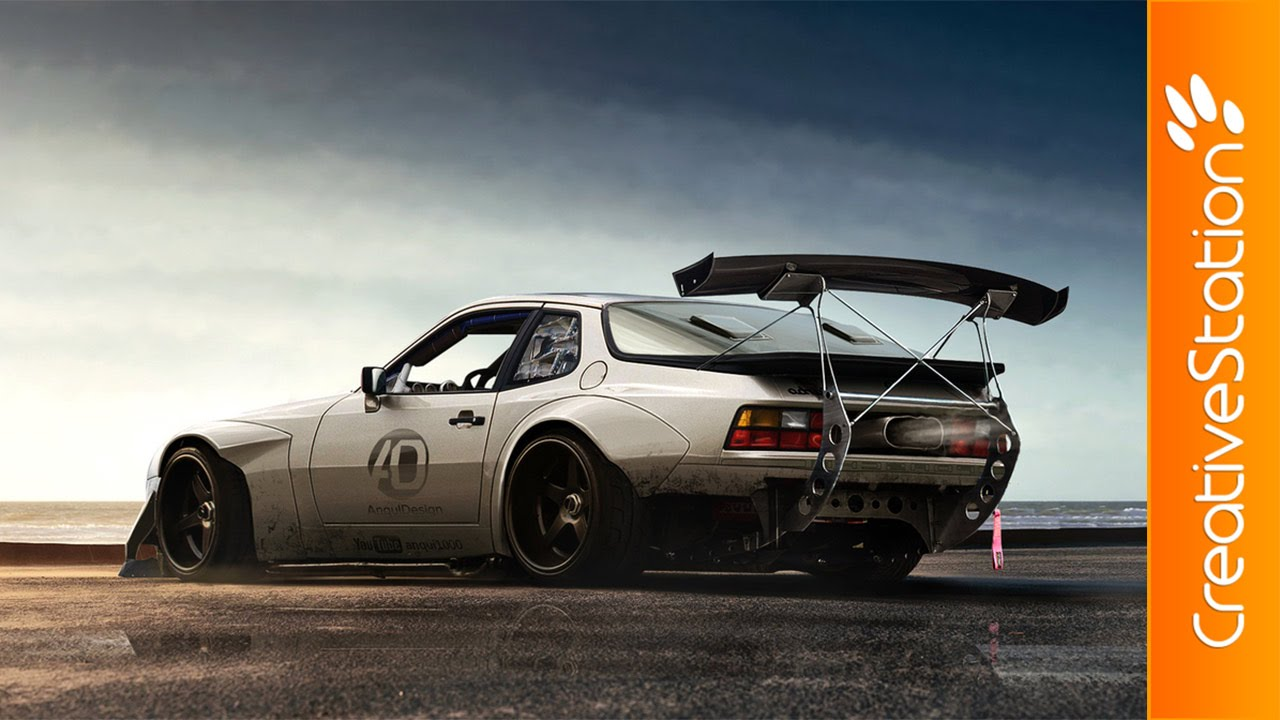 Porsche 944 Virtual Tuning Speed Art Photoshop