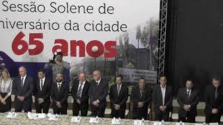Sessão Solene em comemoração ao aniversário da cidade