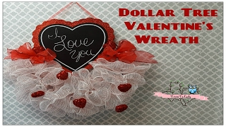 Tricia's Creations: Dollar Tree Valentine's Wreath