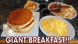 Classic Breakfast Challenge w/ Pancakes, Bacon, & Eggs!!