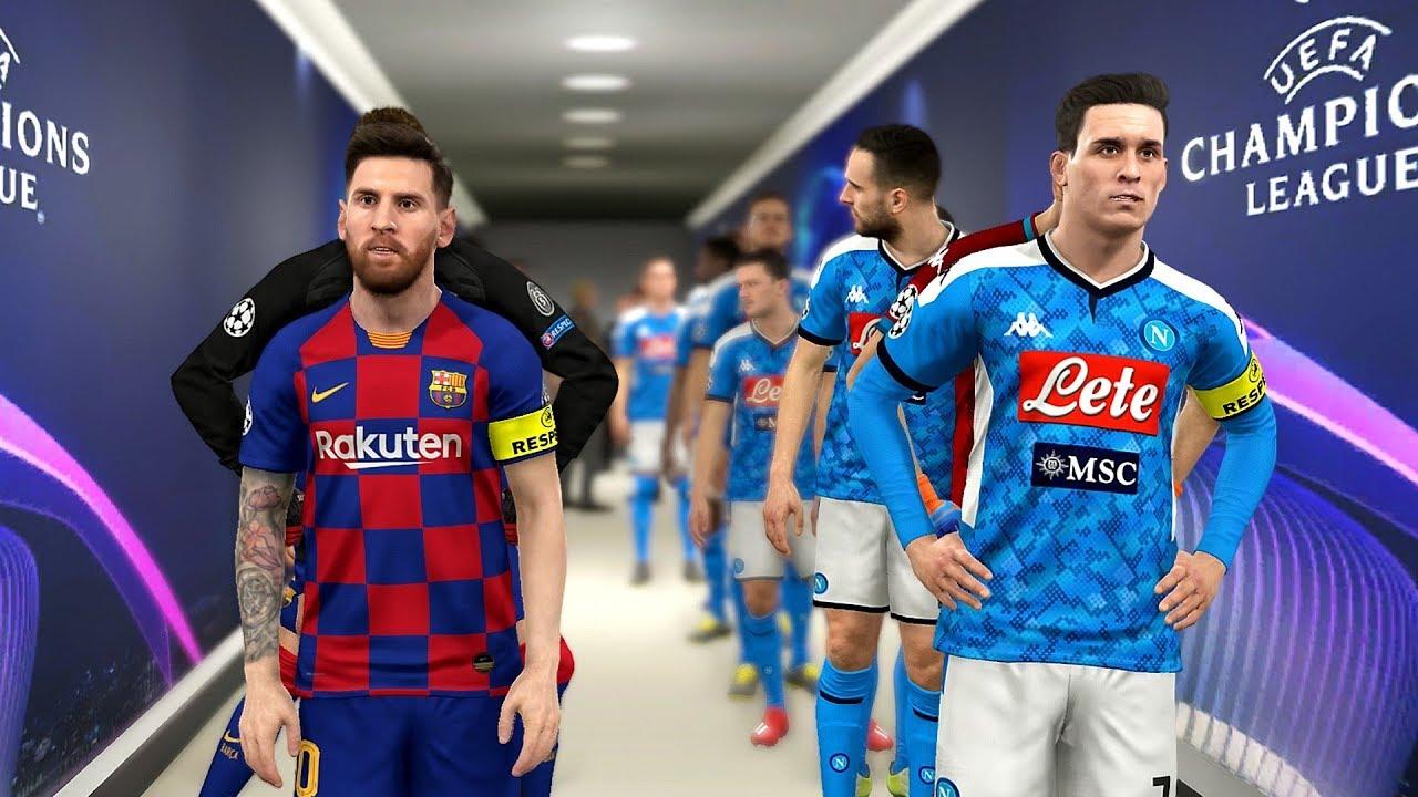 Napoli vs Barcelona - Champions League 2019/2020 Gameplay - YouTube
