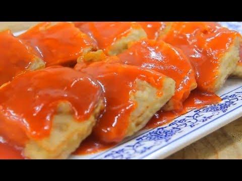茄汁澆藕片 酸甜爽口 外焦裏內 好吃的不得了