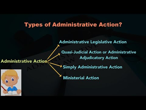 Types of Administrative Action