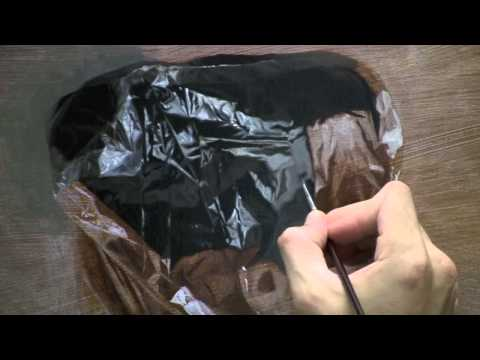Process – The painting of Plastic (2011) by Robin Eley