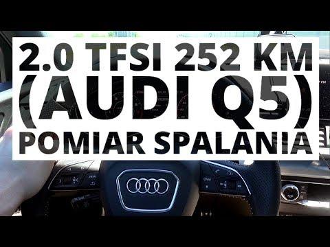 Audi Q5 2.0 TFSI 252 KM AT pomiar zuycia paliwa
