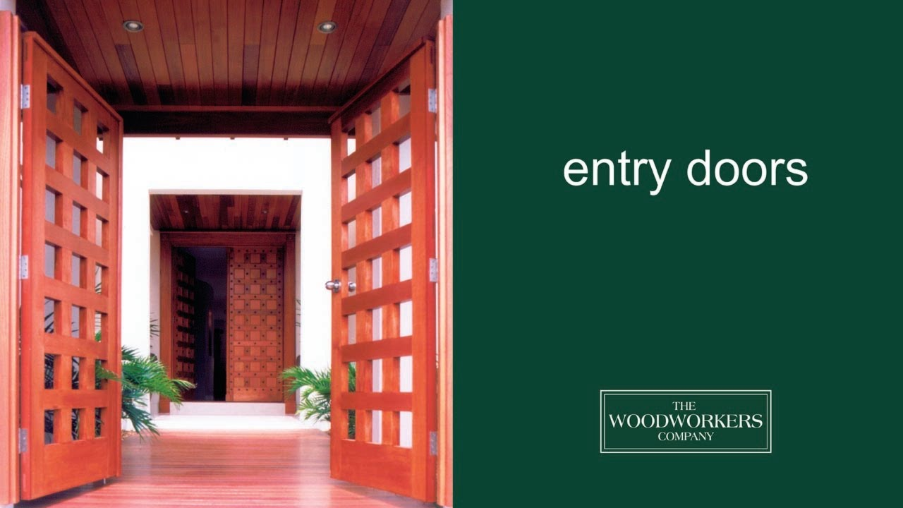 Woodworkers solid timber entry and pivot doors youtube rubansaba