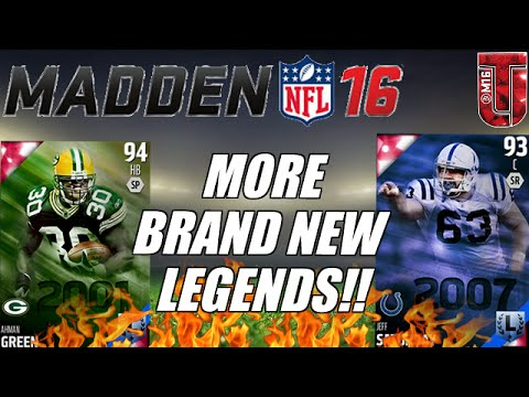 MORE! BRAND NEW LEGENDS TO MUT 16 | Ahman Green & Jeff Saturday | Madden Ultimate Team 16