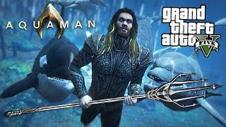 ULTIMATE AQUAMAN MOD w/ Atlantis Underwater City! (GTA 5 Mods)