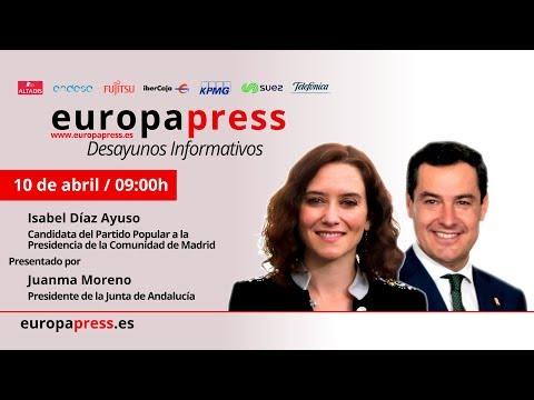 Desayuno Informativo Europa Press con la candidata del PP a la CAM, Isabel Díaz Ayuso