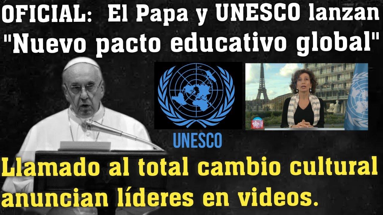 "Se avecina un ""CAMBIO CULTURAL TOTAL"" , pacto educativo global /papa Francisco"