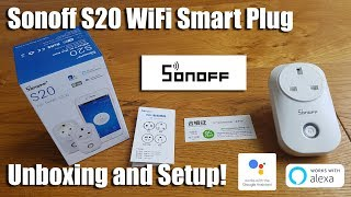 Sonoff S20 Wi-Fi Smart Plug, Works with Amazon Alexa & Google Home Assistant