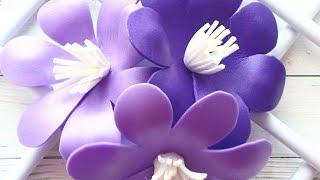 Декор стены. Панно на стену своими руками. Украшаем дом. Цветы из изолона. Быстро и просто делаем цв