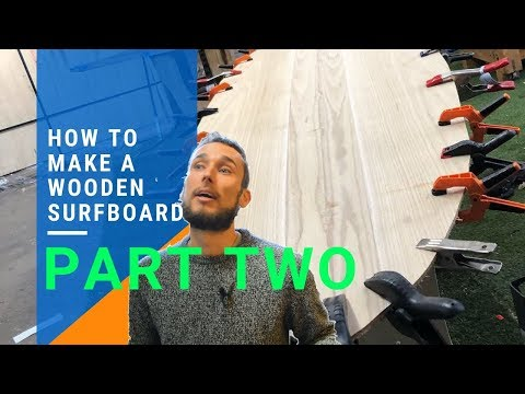 How To Make A Wooden Surfboard part 2 - 8' Mini Mal from DIY surfboard kits