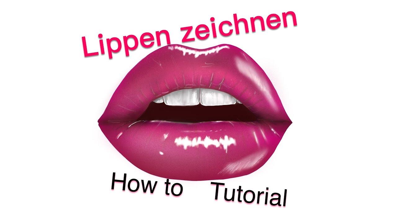 Lippen Zeichnen Einfach