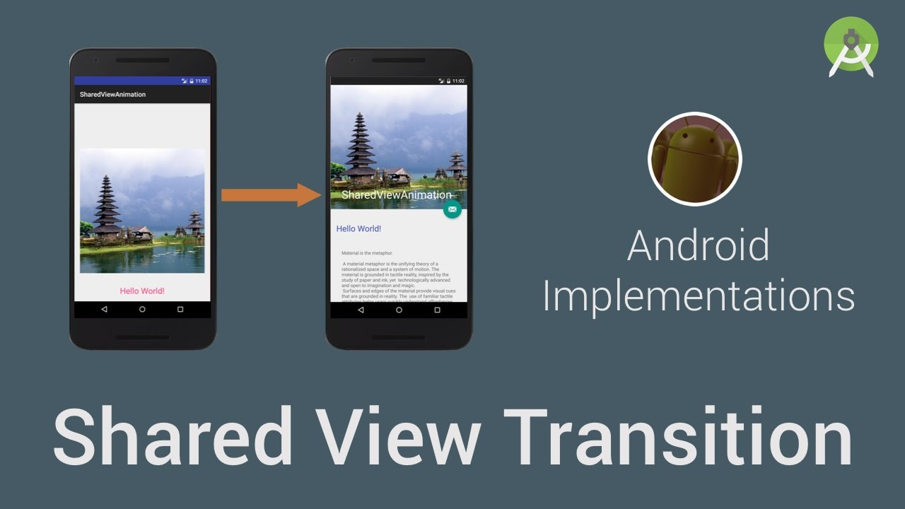 Shared View Transition (Android Implementations) - YouTube