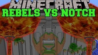 RIVAL REBELS MOD VS TEMPLE OF NOTCH - Minecraft Mods Vs Maps (Rockets, Nukes, Atom Bomb)