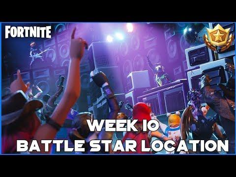 WEEK 10 BATTLE STAR LOCATION - SEASON 6 - FORTNITE BATTLE ROYALE