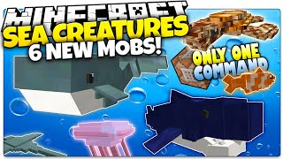 Minecraft | SEA CREATURES! | Sharks, Whales, & More | Only One Command (Minecraft Custom Command)