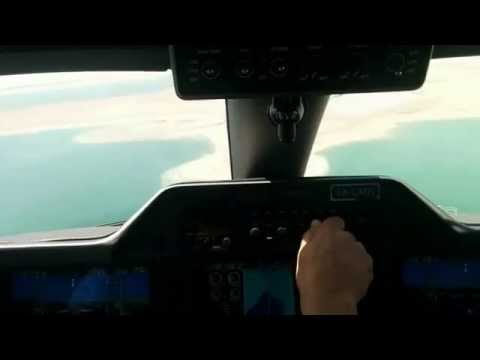 Embraer Phenom 100  landing in the Lowest place in the world - DEAD SEA, ISRAEL