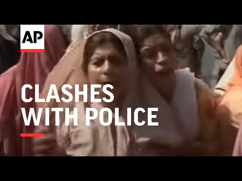 Hundreds of protestors clash with police after death of civilian
